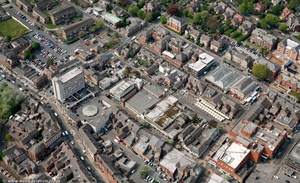Altrincham  town centre from the air