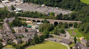 Bollington Viaduct Cheshire  from the air