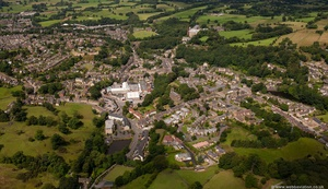Bollington Cheshire  from the air