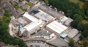 Tullis Russell factory  from the air