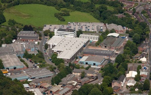 Siemens factory,  Congleton  from the air