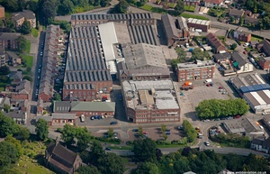 Berisfords Ribbons,  Congleton  from the air