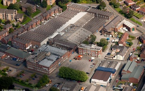 Berisfords Ribbons & Edward Mill Congleton  from the air