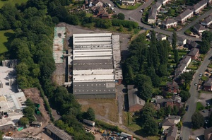 derelict factory, Congleton, now Shaw Close housing development   from the air