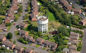 Congleton water tower  from the air