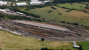 Basford Hall marshalling yard Crewe  from the air