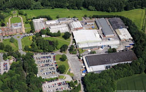 Crewe Hall Enterprise Park from the air