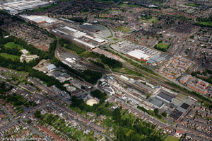 Crewe Loco Works  from the air