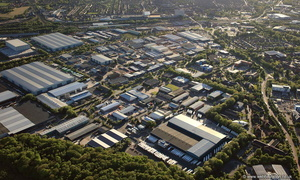 Crewe Gates Industrial Estate from the air