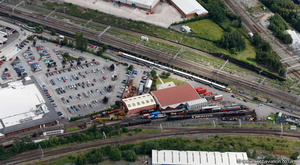 Crewe Heritage Centre railway museum  from the air