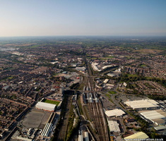 Crewe Railway Station  from the air