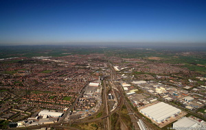 Crewe from the air
