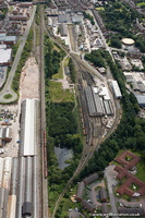 Crewe Electric TMD from the air