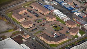 Telford Court Chester Gates Business Park aerial photo