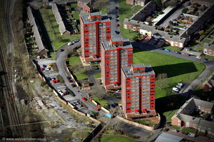 Joseph Groome Towers, Ellesmere Port aerial photograph