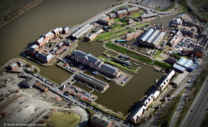 National Waterways Museum aerial photograph