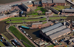 Ellesmere Port  boat museum  Cheshire aerial photograph