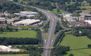 A555 Handforth  from the air