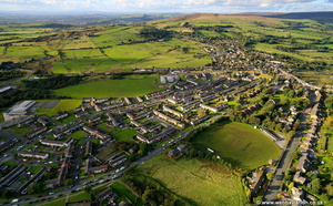 social housing in Hattersley / Mottram in Longdendale near Hydeaerial photograph