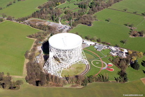 Lovell Radio Telescope and the Jodrell Bank Observatory  Cheshire aerial photograph
