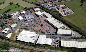 Lyme Green Business Park Macclesfield aerial photograph