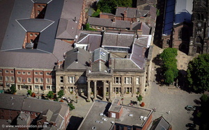 Macclesfield Town Hall aerial photograph