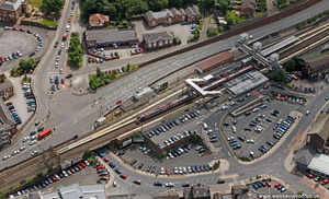 Macclesfield railway station aerial photograph