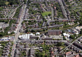 Macclesfield Cheshire aerial photograph