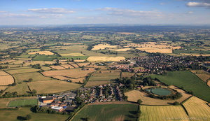 Oathills Malpas Cheshire from the air