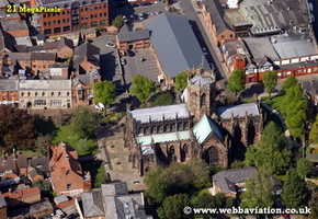 St Mary's Church Nantwich Cheshire aerial photograph