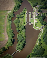 Saltersford locks aerial photograph
