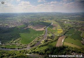 Saltersford Locks in Northwich Cheshire aerial photograph