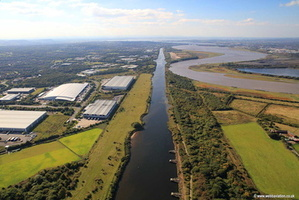 Manchester Ship Canal  Runcorn Cheshire aerial photograph
