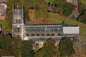 St Mary's Church, Sandbach from the air