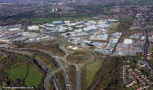 Whitefield Road Industrial Estate, Bredbury,  aerial photograph