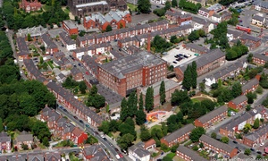 Hallam Mill Heaviley  Stockport  from the air