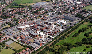 Stepping Hill Hospital Stockport aerial photograph
