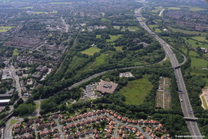 Cheadle Heath  Stockport Cheshire aerial photograph