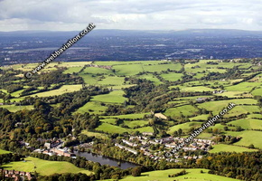 Compstall Stockport  Cheshire aerial photograph