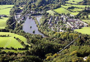 Etherow Country Park Compstall Stockport  Cheshire aerial photograph