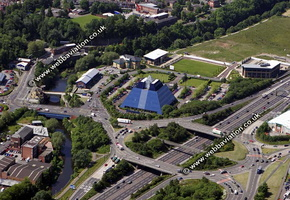 Edgeley Stockport  Cheshire aerial photograph