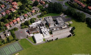 Kingsway School Foxland Rd Gatley Stockport  Cheshire aerial photograph