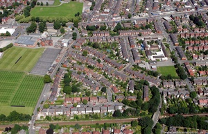 Great Moor Stockport  aerial photograph