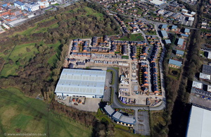 Mirrlees Blackstone Hazel Grove Stockport aerial photograph