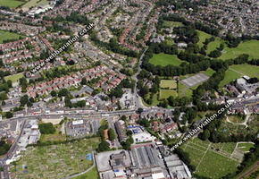 Hazel Grove Stockport  aerial photograph