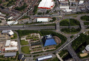 Heaton Norris Stockport aerial photograph