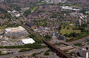 Lancashire Hill  Stockport  aerial photograph