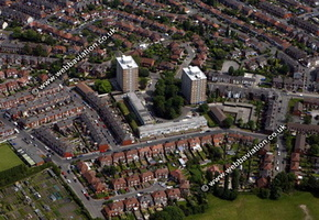 Offerton  Stockport  aerial photograph