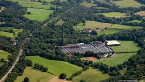 Strines Printworks, Strines Stockport SK6 from the air