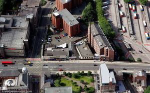 Hat Works museum Stockport from the air